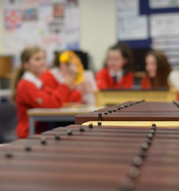 close up glockenspiel music lesson