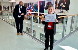 Headteacher's award josh