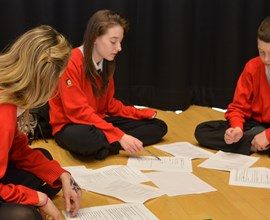 script writing in a drama lesson in the drama specialist perform