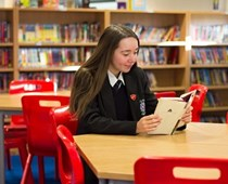 head girl reading